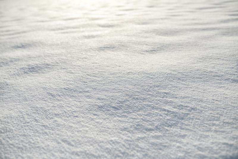 Snö på solnedgångbakgrund royaltyfria bilder