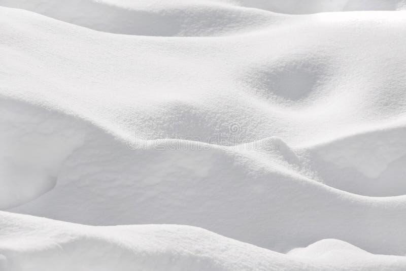 Snö packar ihop, endast vitt, snötextur royaltyfria bilder