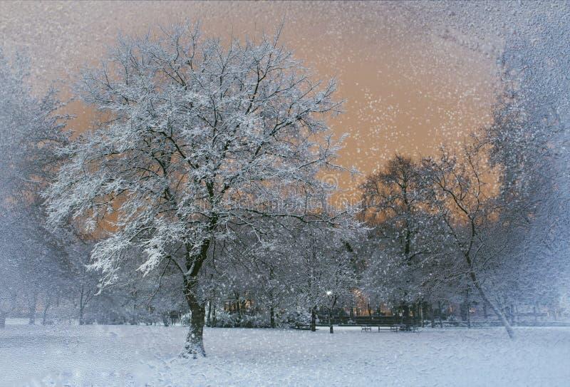 Snöa utanför