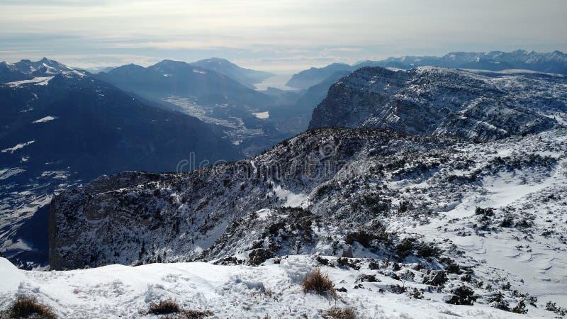 Snöberg Italien arkivbilder