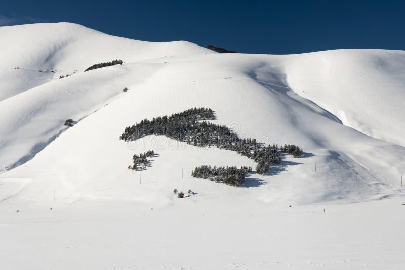Snöberglandskap, planlagd italienare royaltyfri fotografi