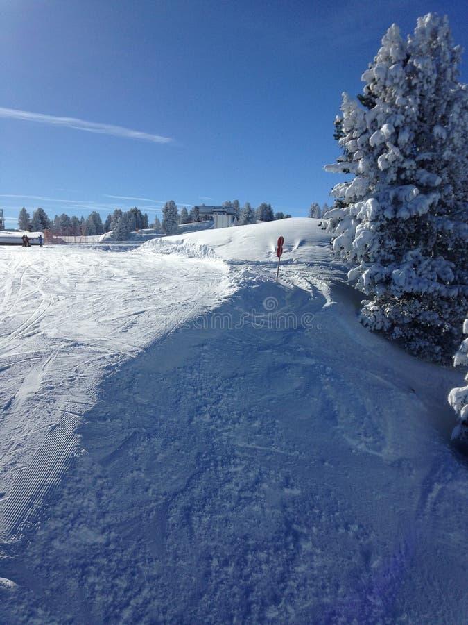 Snöbild på en härlig dag fotografering för bildbyråer