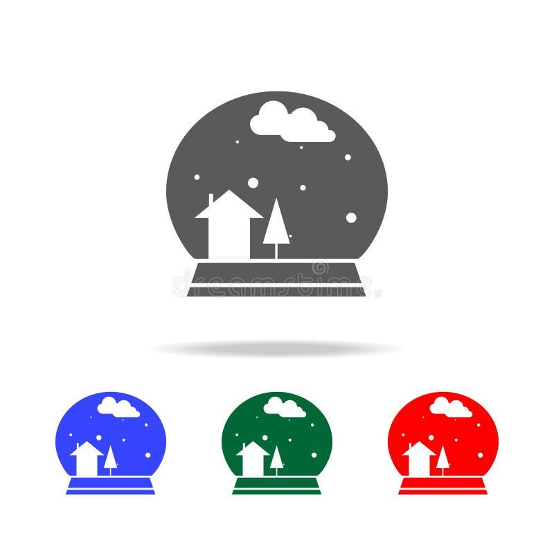 Snöbollsymbol Beståndsdelar i mång- kulöra symboler för mobila begrepps- och rengöringsdukapps Symboler för websitedesignen och u royaltyfri illustrationer