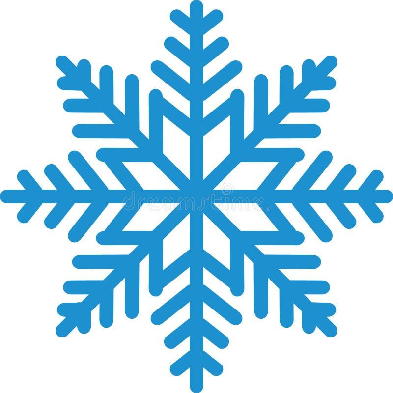 Snöflinga med massor av detaljer stock illustrationer