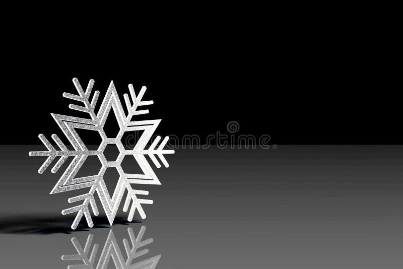 Snöflinga med svart bakgrund arkivbilder