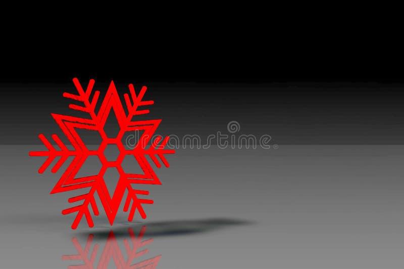 Snöflinga med svart bakgrund arkivbild