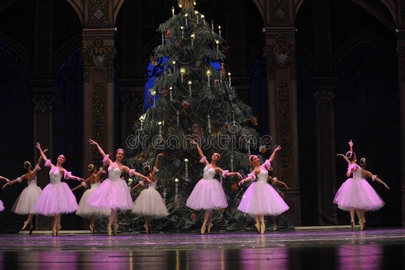 Snöflingafen det andra för handling för fältgodis i andra hand kungariket - balettnötknäpparen royaltyfri fotografi