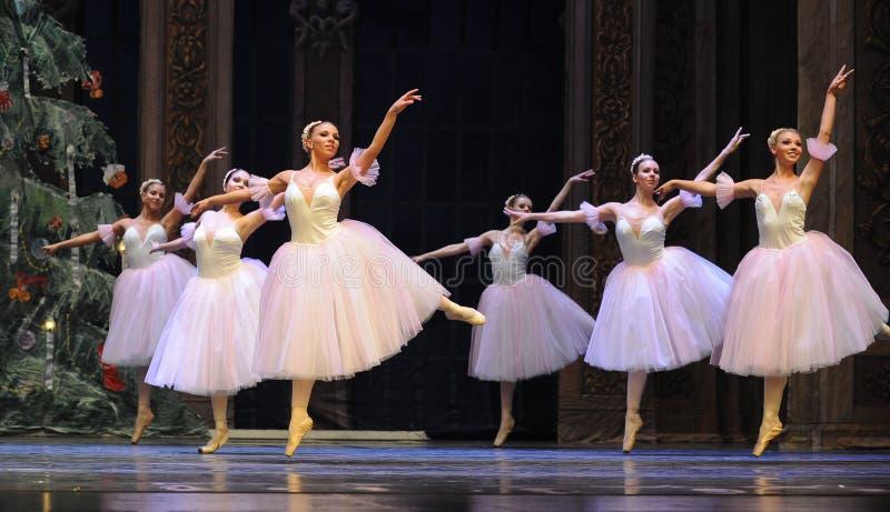 Snöflingafen det andra för handling för fältgodis i andra hand kungariket - balettnötknäpparen arkivfoton