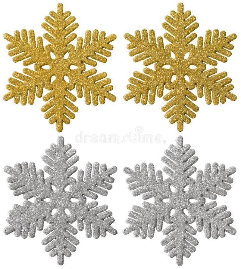 Snöflingajulgarnering, dekorativ snöflinga för Xmas arkivbild