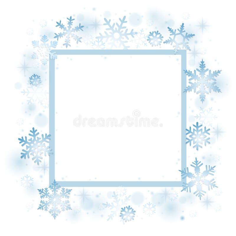 Snöflingajulkort stock illustrationer