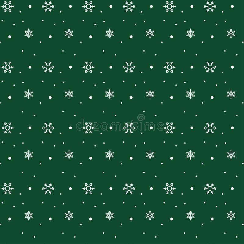 Snöflingamodell på grön bakgrund royaltyfri illustrationer