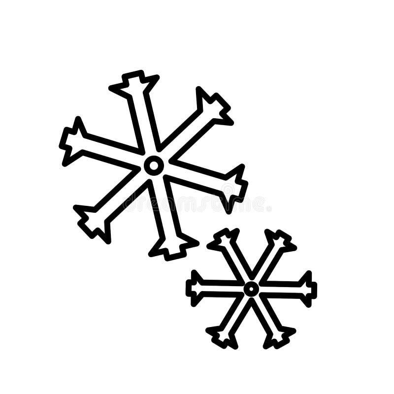 Snöflingasymbolsvektor vektor illustrationer