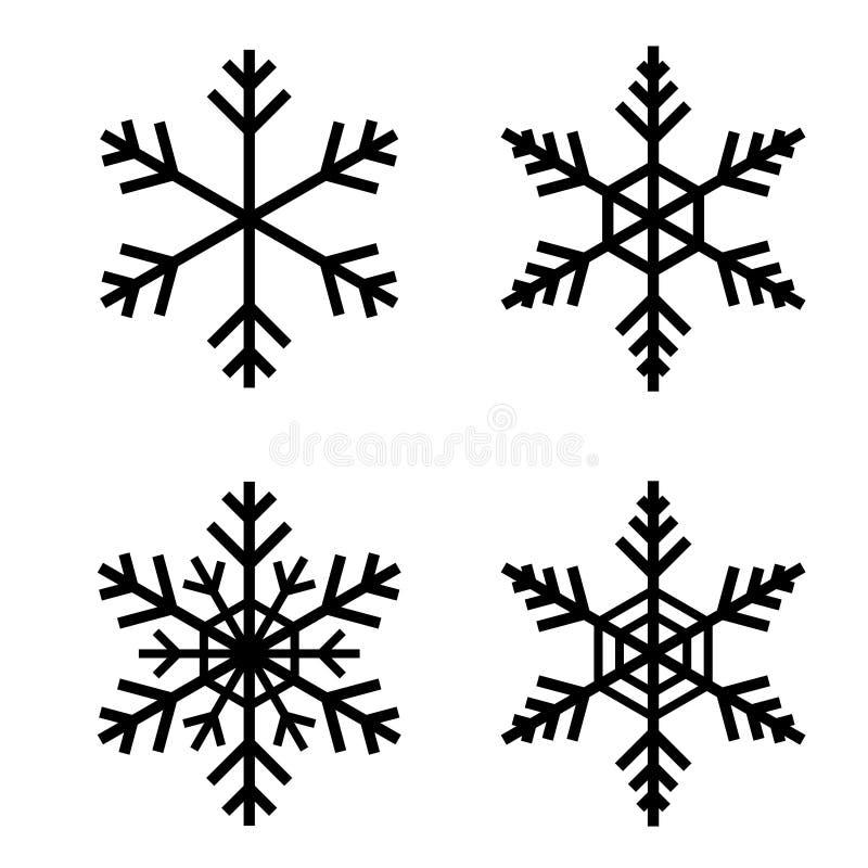 Snöflingavektor royaltyfri illustrationer