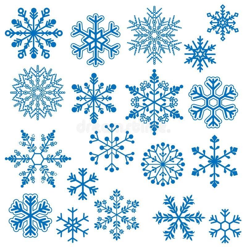 Snöflingavektorer vektor illustrationer