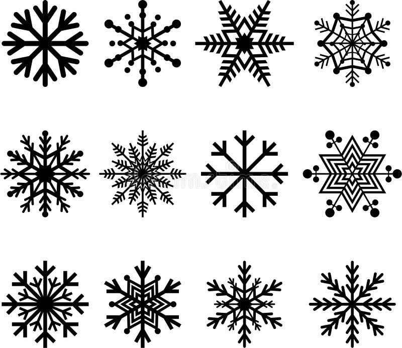 Snöflingor stock illustrationer