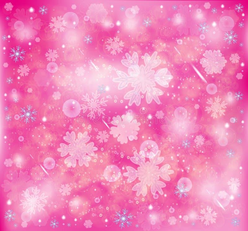 Snöflingor frostig snöbakgrund för vinter stock illustrationer