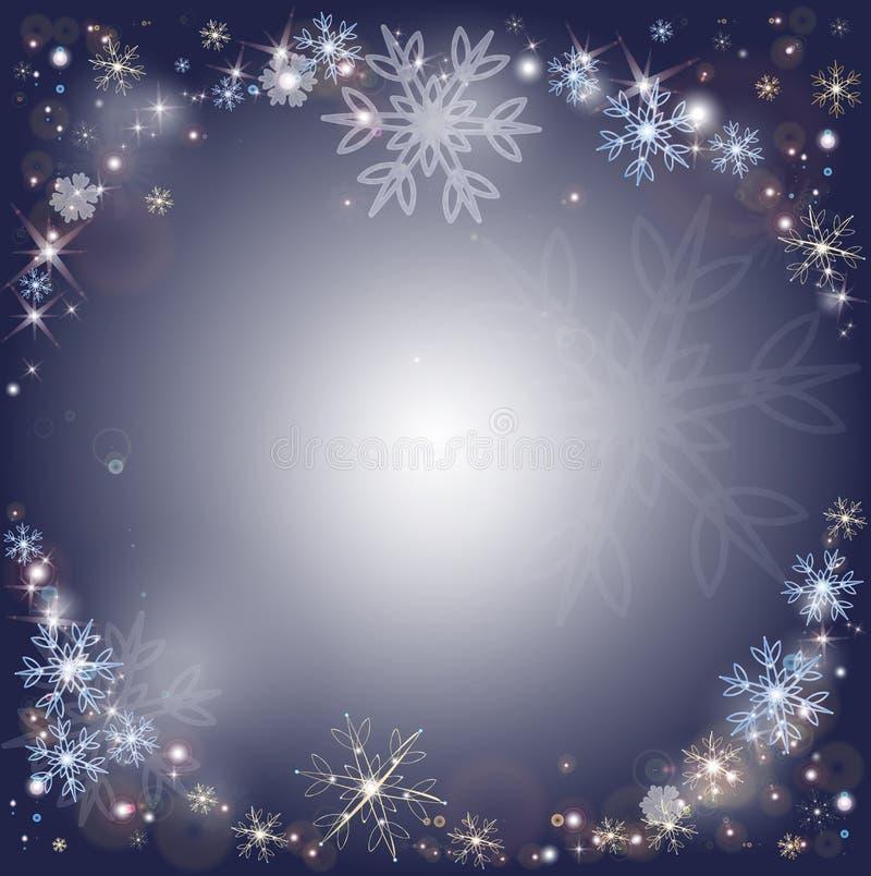 Snöflingor frostig snöbakgrund för vinter vektor illustrationer