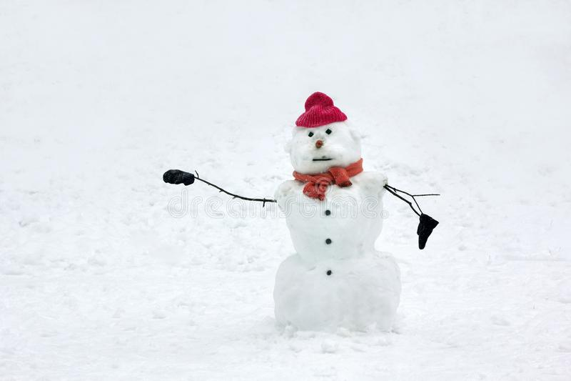 Snögubbe fotografering för bildbyråer