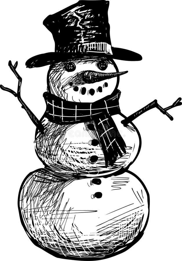 Snögubbe royaltyfri illustrationer