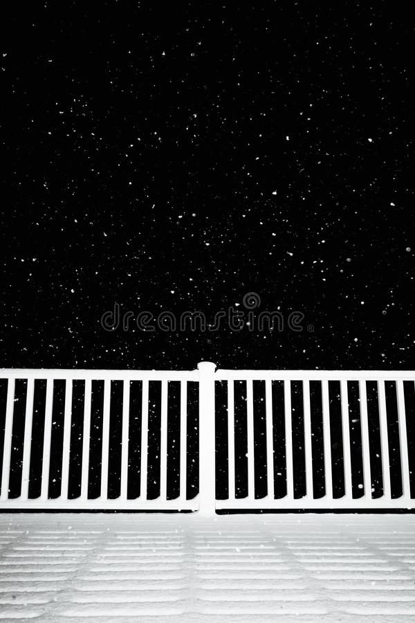 Snöig afton royaltyfri foto