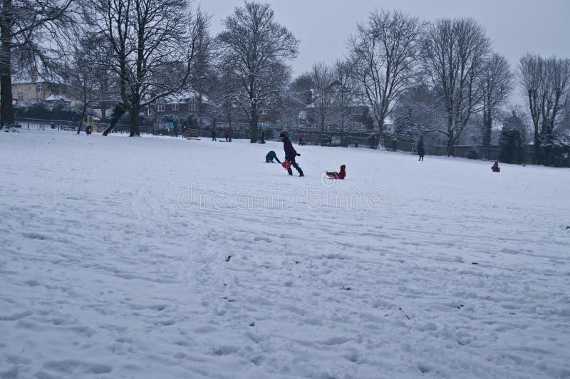 snöig dag arkivfoto