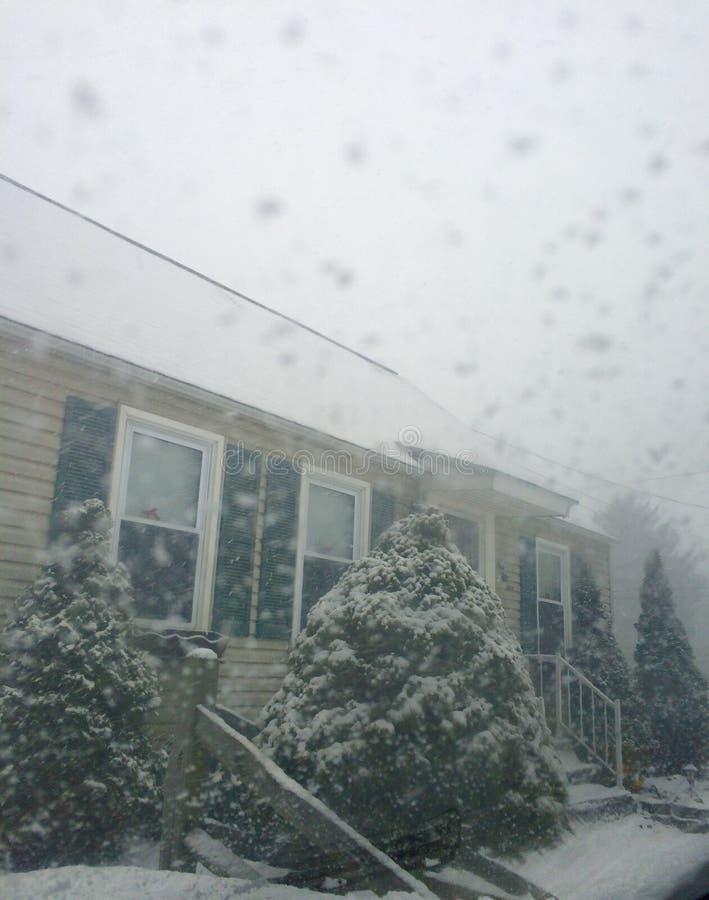 snöig dag arkivbild