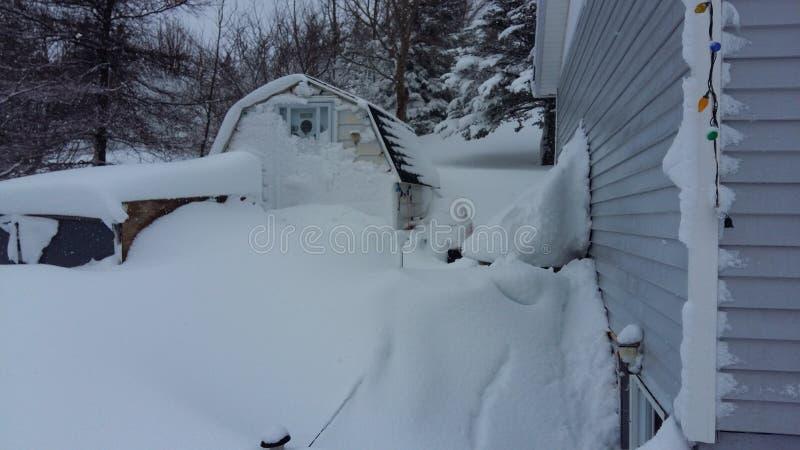 Snöig dagar arkivbild