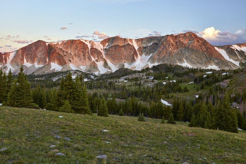 Snöig område, Wyoming fotografering för bildbyråer