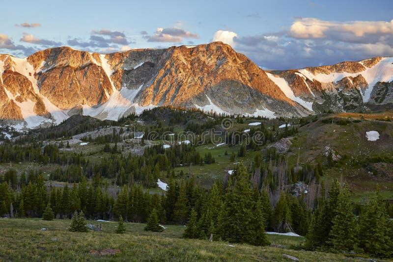 Snöig område, Wyoming royaltyfria foton