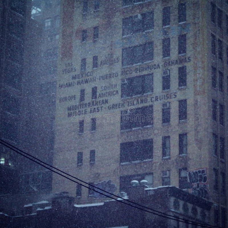 Snöig semester New York arkivbilder