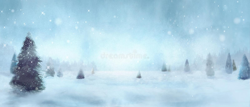 snöig treesvinter royaltyfria foton