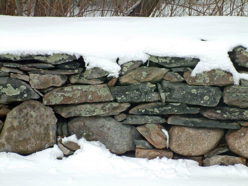 Snöig Vägg För Sten 2 Royaltyfri Fotografi