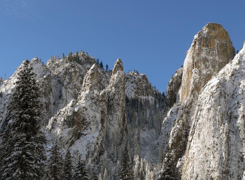 snöig vinter yosemite för naturplats royaltyfri bild