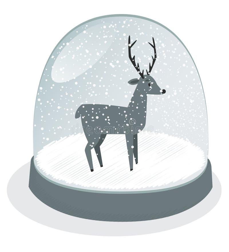 Snöjordklot stock illustrationer