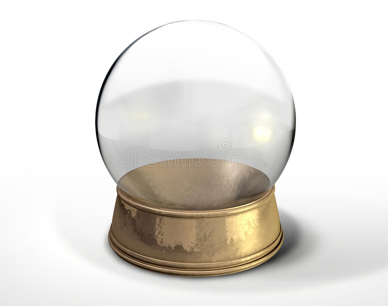 Snöjordklot Crystal Ball  stock illustrationer