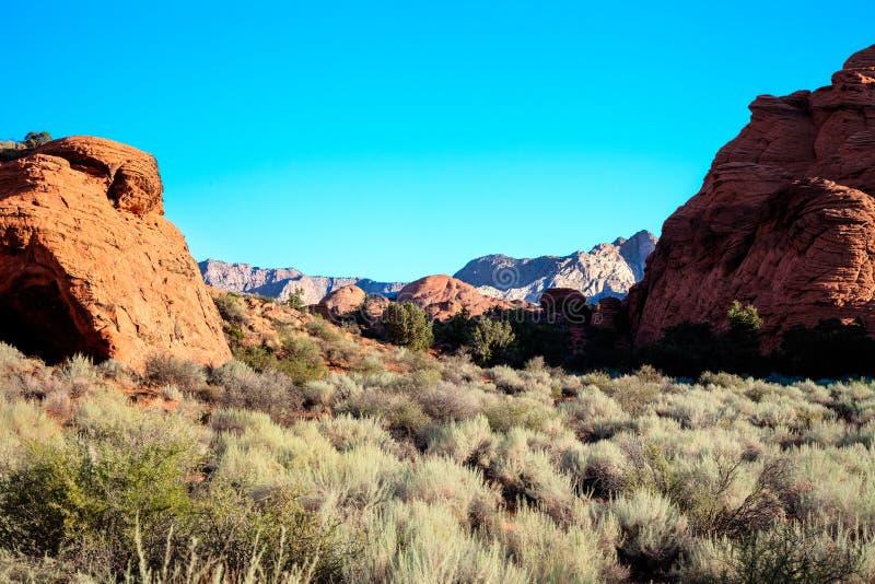 Snökanjondelstatspark - Ivins - Utah arkivfoton
