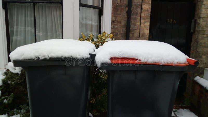 Snönedgångar i Bedford, England fotografering för bildbyråer