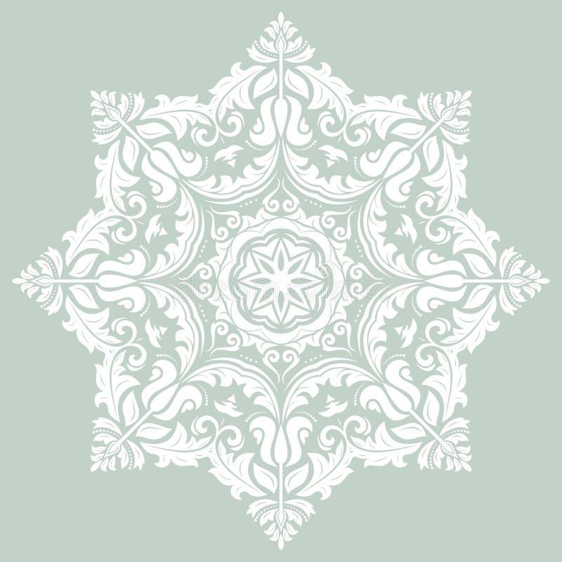 Snör åt den dekorativa rundan för den Orient vektorn stock illustrationer