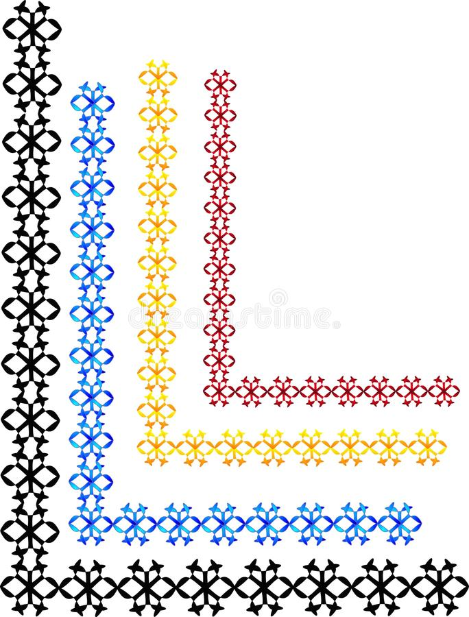 snör åt det eleganta elementet för designer vektor illustrationer