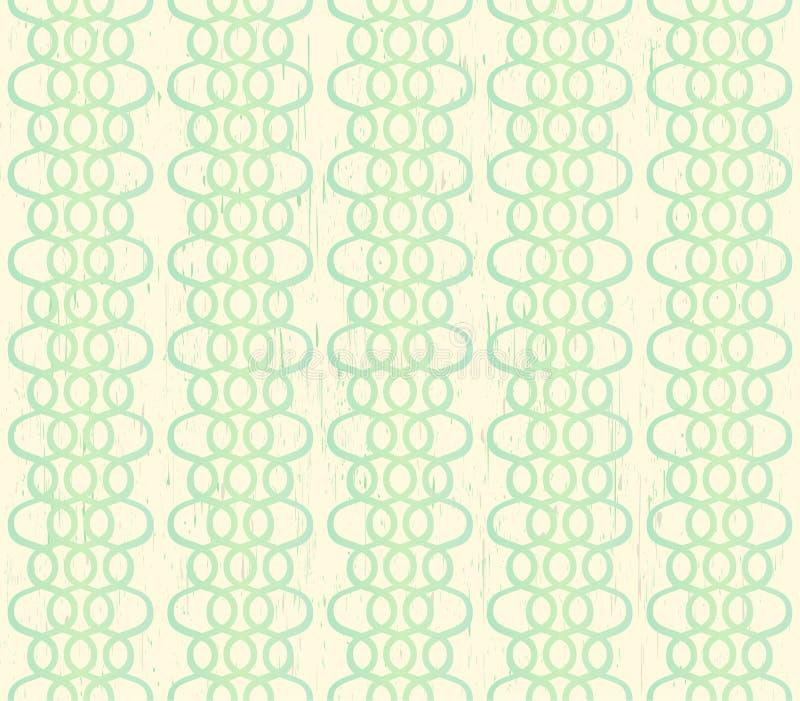 Snör åt sömlös bakgrund för Grungy elfenben med gräsplan vektor illustrationer