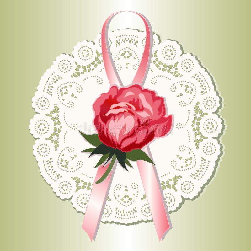snöra åt den rose victorianen för red stock illustrationer