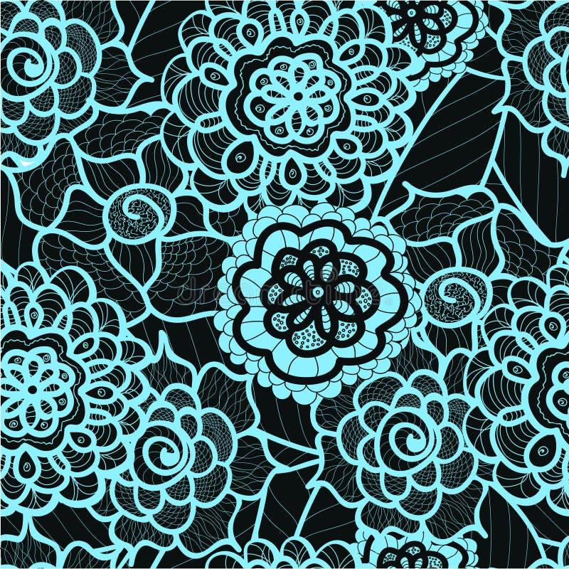 Snöra åt den sömlösa modellen med abstrakta beståndsdelar den blom- bakgrundsdesignen använder idealt den din vektorn vektor illustrationer