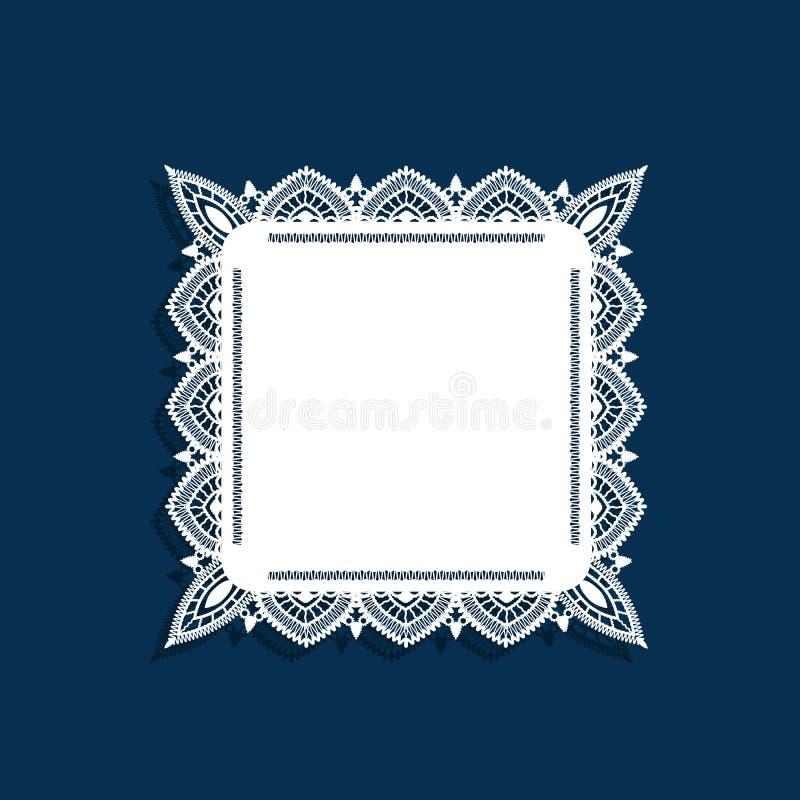 Snöra åt doilyen royaltyfri illustrationer