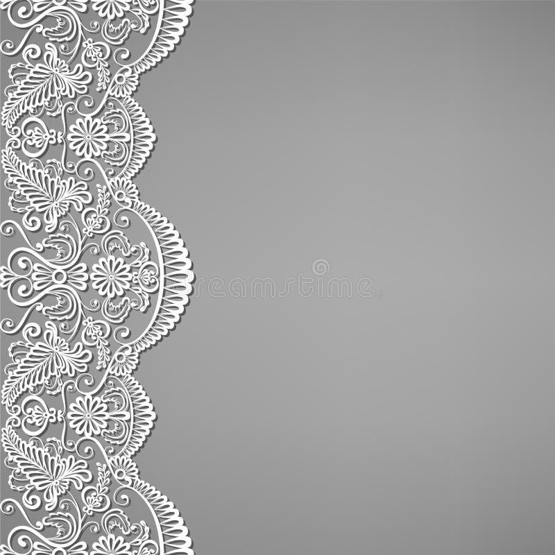 snöra åt och blom- prydnader royaltyfri illustrationer