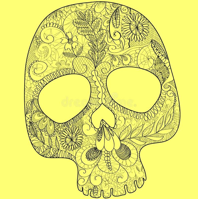 snöra åt skallen vektor illustrationer