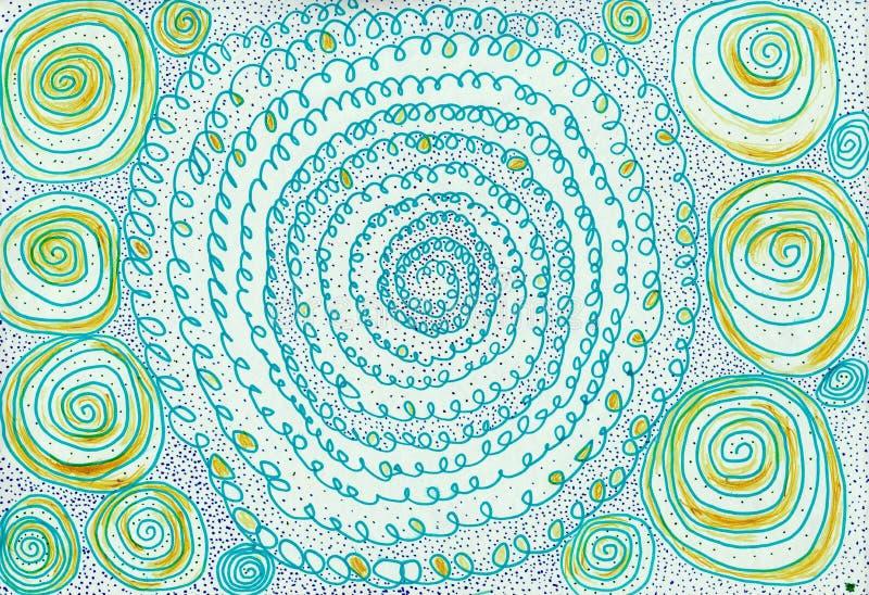 Snöra åt spiral arkivbilder
