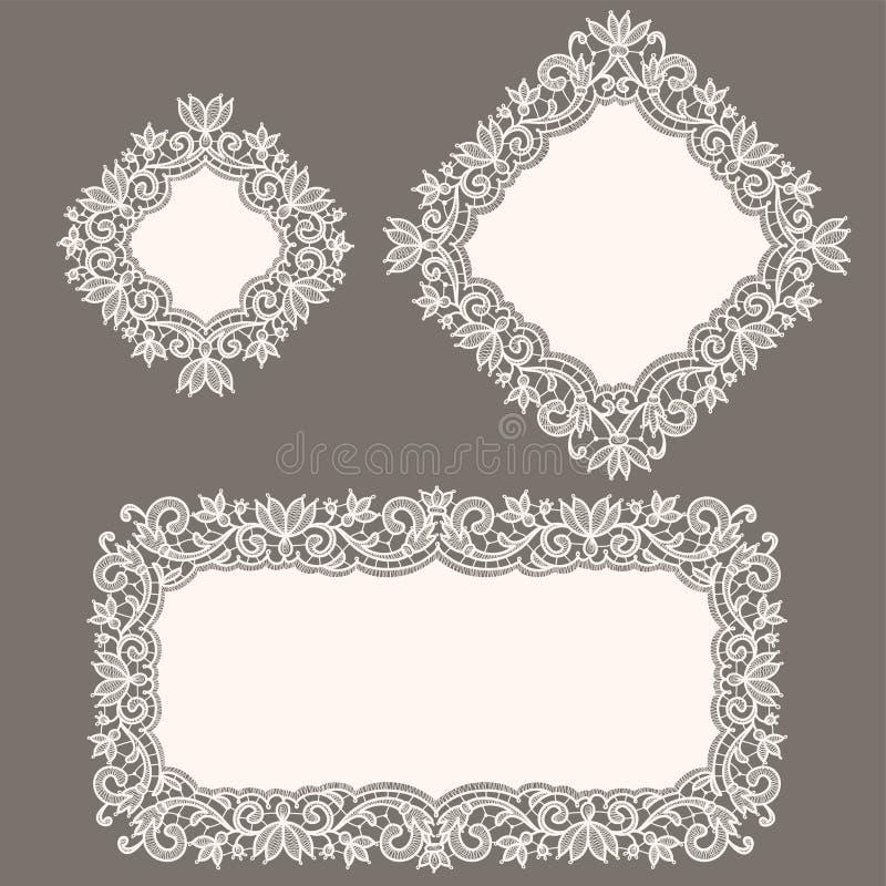 snöra åt white doily royaltyfri illustrationer