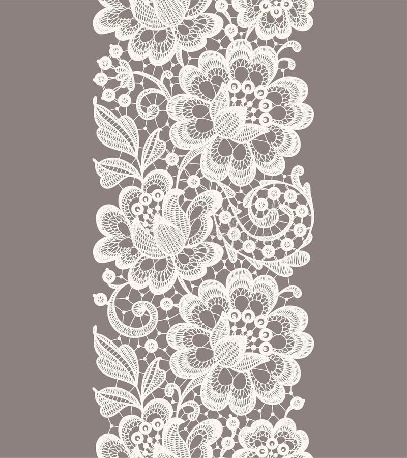 snöra åt white seamless blom- modell vektor illustrationer