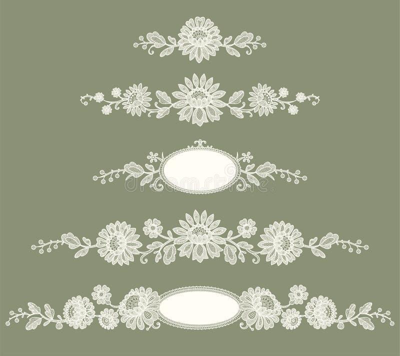 snöra åt white tree för illustration för konstblomninggem stock illustrationer