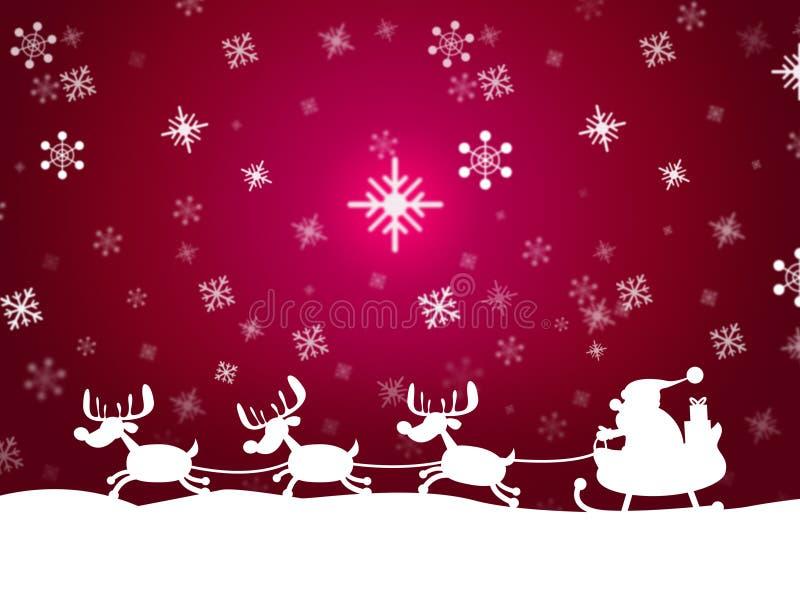 SnöSanta Represents Father Christmas And djur stock illustrationer